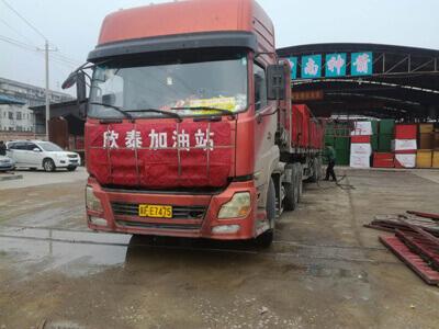中南神箭发往浙江绍兴的竹胶板装车图